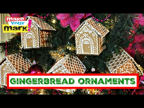 How to: Cardboard Gingerbread Ornaments