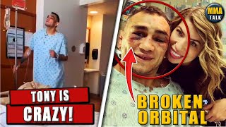 Tony Ferguson DANCING in the hospital after UFC 249 loss, suffers broken orbital, Khabib, Joe Rogan