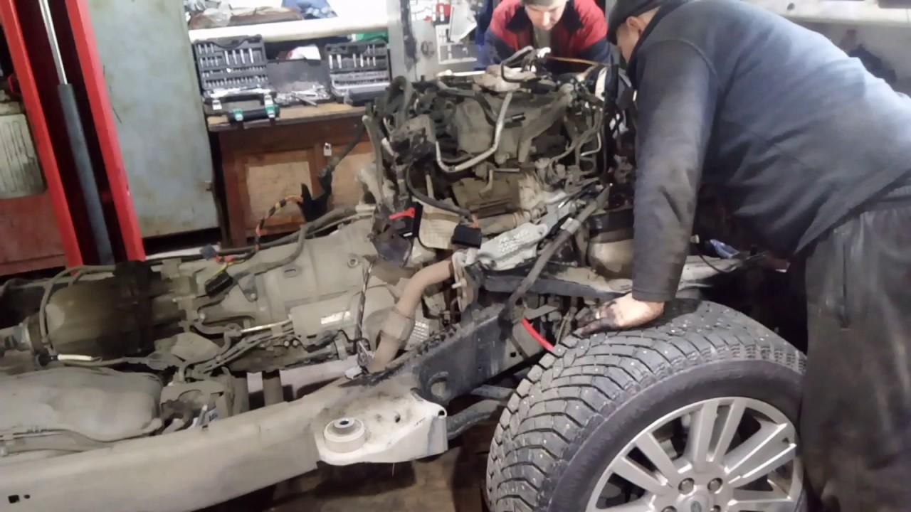 было снятие двигателя ленд ровер дискавери 3 дизель любой