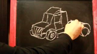 Учимся рисовать машинки - Развивающие мультики для детей - Уроки рисования