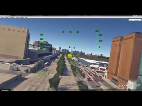 Google Earth  Flght Simulator: Fun Flight over Casablanca/NY/Paris