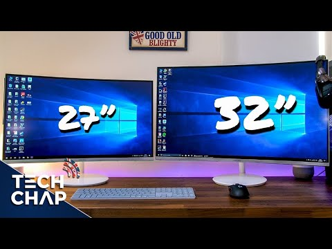 """Samsung QUANTUM DOT Curved Monitor Review - 27"""" & 32"""" CH711 