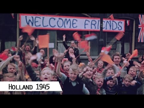 Amsterdam and the Netherlands after Liberation by the Canadians in 1945 (in color and HD)