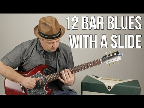 Slide Guitar Lessons - Blues Rock - Playing Over 12 Bar Blues With a Slide