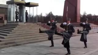Changing of the Guard in Bishkek, Kyrgyzstan