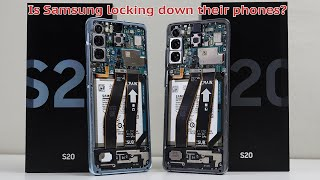 Is Samsung locking down 3rd party repairs? Galaxy S20 Teardown and Repair Assessment