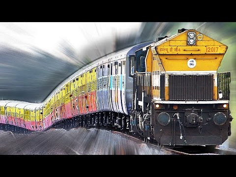 Super MONSTER Gradients : INDIAN RAILWAYS Roller Coaster Trains