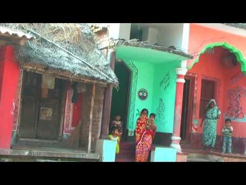 Indian Village Life.Fifth part:Raghurajpur Artist's Village.A major tourist destination.Full HD