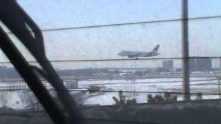 Air Canada Rouge A320 Landing At Toronto Pearson Airport 03/07/2014