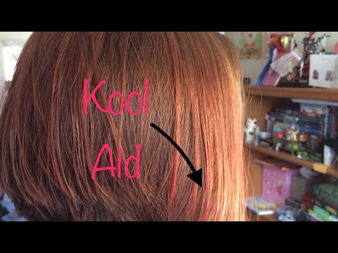 How To Dye Your Hair With KOOL AID!! 😄