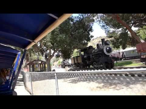Los Angeles, California - Travel Town Museum Train Ride HD (2016)