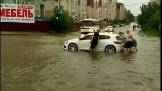 Потоп в Липецке на ул. Неделина 19.06.16