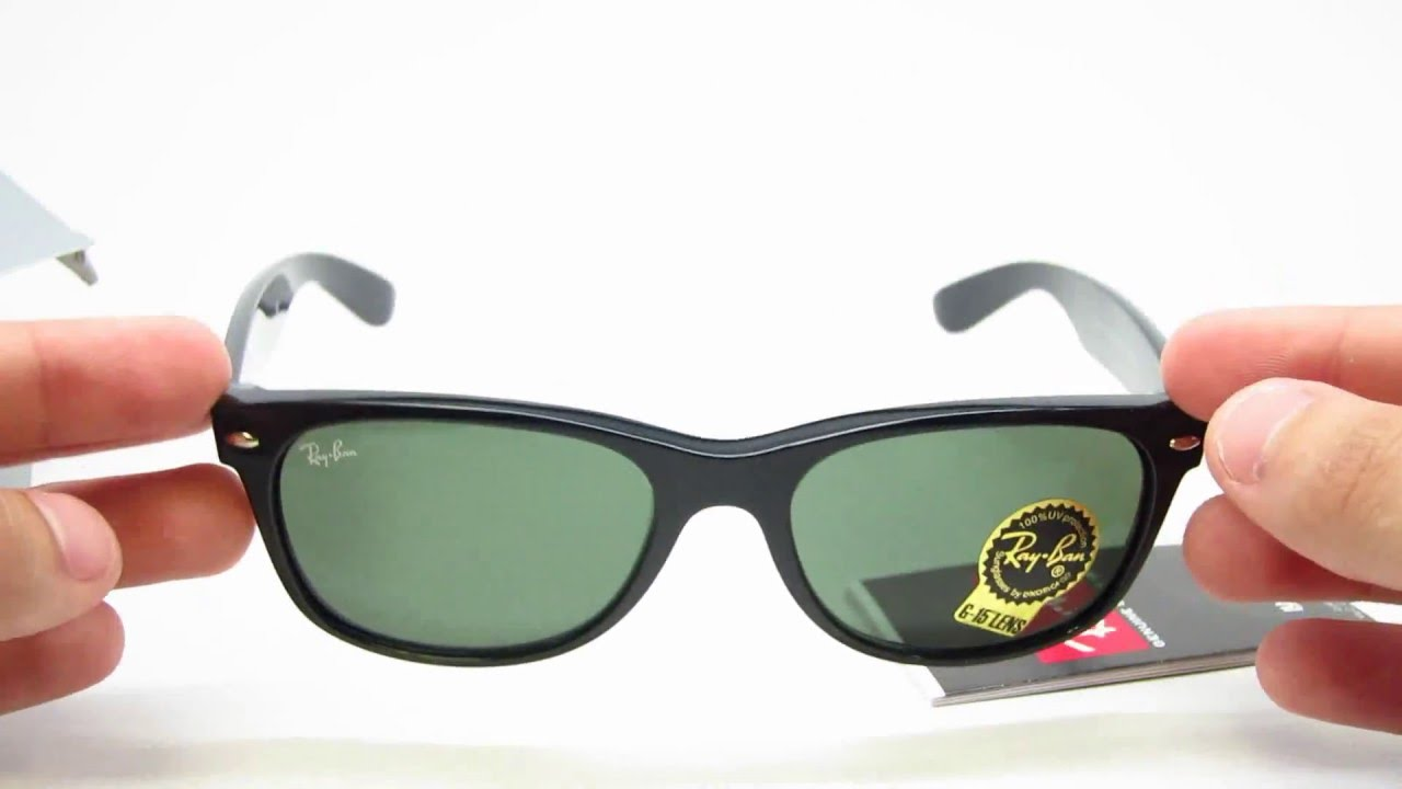 56aaafe562 Unboxing Ray-Ban RB 2132 New Wayfarer 901L Sunglasses - YouTube