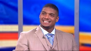 Repeat youtube video Michael Sam 'Excited' for NFL Draft, Will Get Arthur Ashe Courage Award at ESPYs