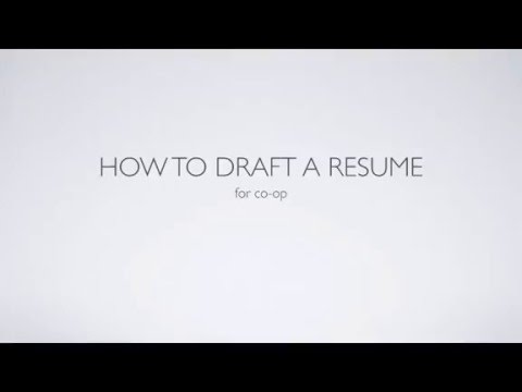 Introduction to Co-op - Resume Development (University of Cincinnati)