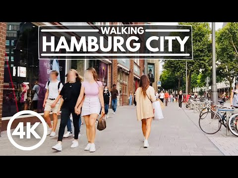 [4K] Walking in Hamburg Germany Summer 2020 - City Center Tour 4K