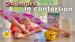 Doing everything in CONTORTION for 24 Hours Challenge! #lillyk #contortion #24hour