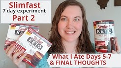 What I Ate Days 5-7 of Slimfast Keto Plan | An Experiment | Overcoming Emily