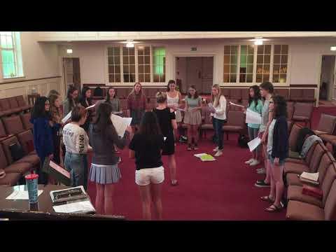 Biebl, Ave Maria, in rehearsal