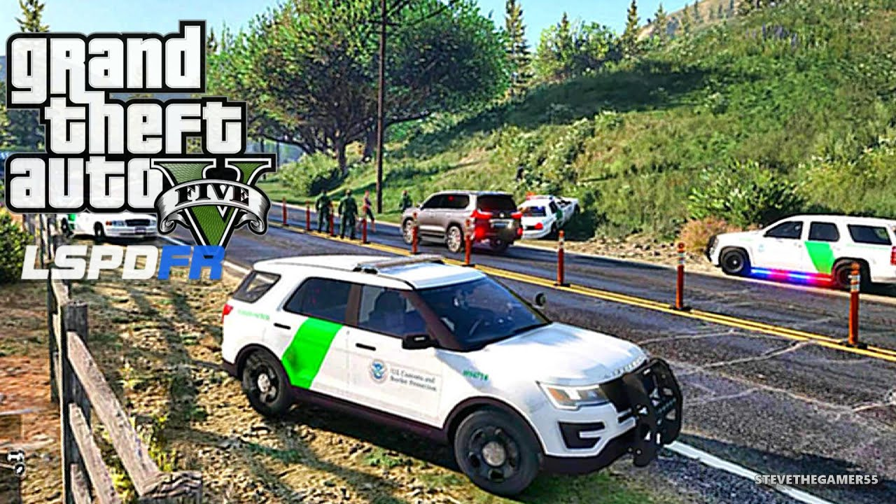GTA 5 LSPDFR 0 3 1 - EPiSODE 61 - LET'S BE COPS - BORDER PATROL (GTA 5 PC  POLICE MODS) DUI