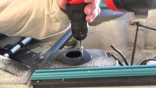 Installing Flush Mount Fishing Rod Holders On A Sit On Top Kayak: Episode 115
