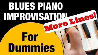 How to easily improvise Blues Piano. Lines from licks