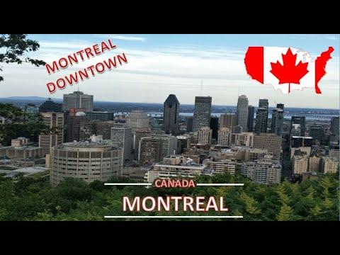 MONTREAL DOWNTOWN, CENTRE-VILLE DE MONTREAL, QUEBEC, CANADA APRIL 2018 إكتشف مدينة مونتريال