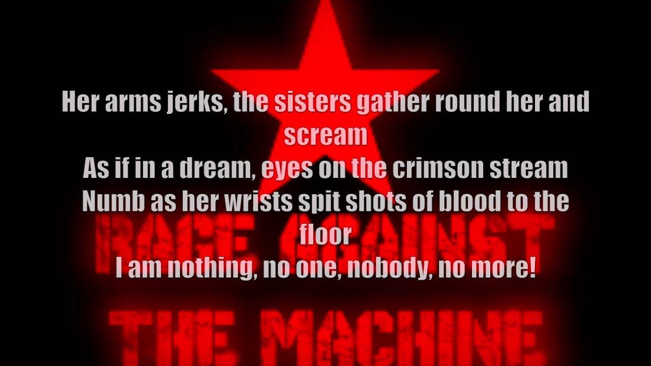 lyrics rage against the machine