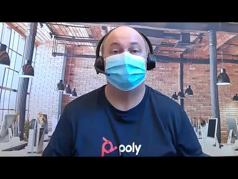 Headset Voice Quality with Mask  Poly Savi 8200