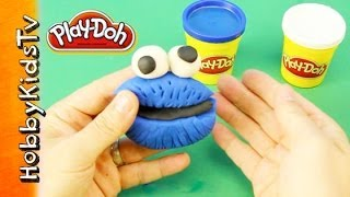 Play Doh Cookie Monster - How To Make Play Doh Cookie Monster