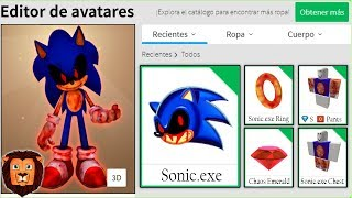 WE CREATE THE SONIC PROFILE. EXE in ROBLOX Sonic. EXE ROBLOX PERFIL LEON PICARON