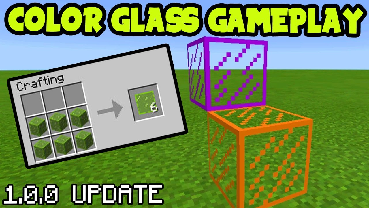 Minecraft Pocket Edition 1 0 Update How To Make Stained Glass