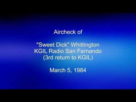 Sweet Dick Whittington, KGIL Radio, March 5, 1984