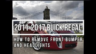 How to Remove 2016 Buick Regal Front Bumper And Headlights - Body Shop Basics