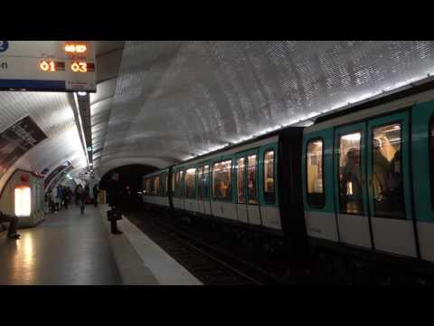 RATP Paris Métro - Line 2 Porte Dauphine bound MF-01 at Anvers