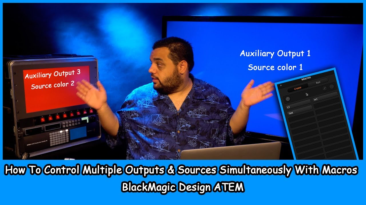 How To Create Static Lower Thirds Blackmagic Design Atme Video Switcher Youtube