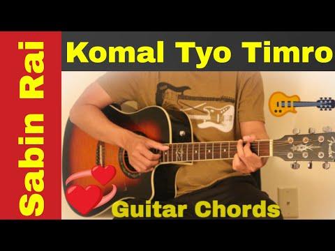 Komal Tyo Timro - Guitar chords | lesson