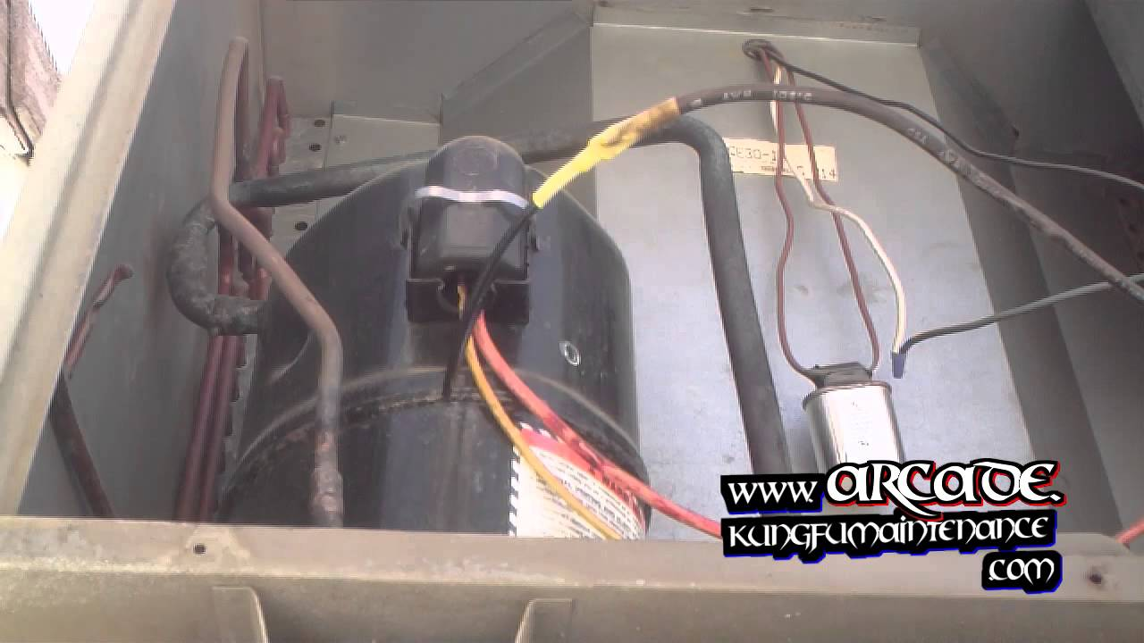 How To Repair Broken Air Conditioner Compressor Wiring Plus Fan Motor Not Starting  YouTube