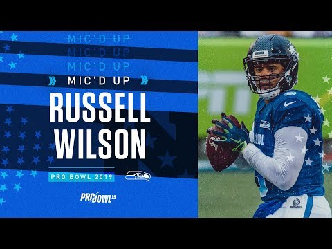 sports shoes c351c 29694 2019 Pro Bowl Mic'd Up: Russell Wilson vs AFC - YouTube