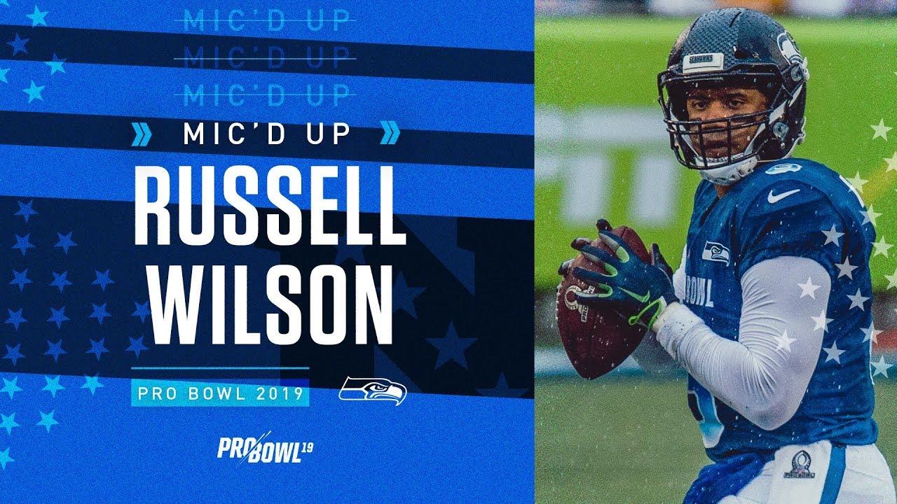 best website 0fb88 078f3 2019 Pro Bowl Mic'd Up: Russell Wilson vs AFC