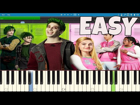 How to play Someday - EASY Piano Tutorial - ZOMBIES - Milo Manheim, Meg Donnelly