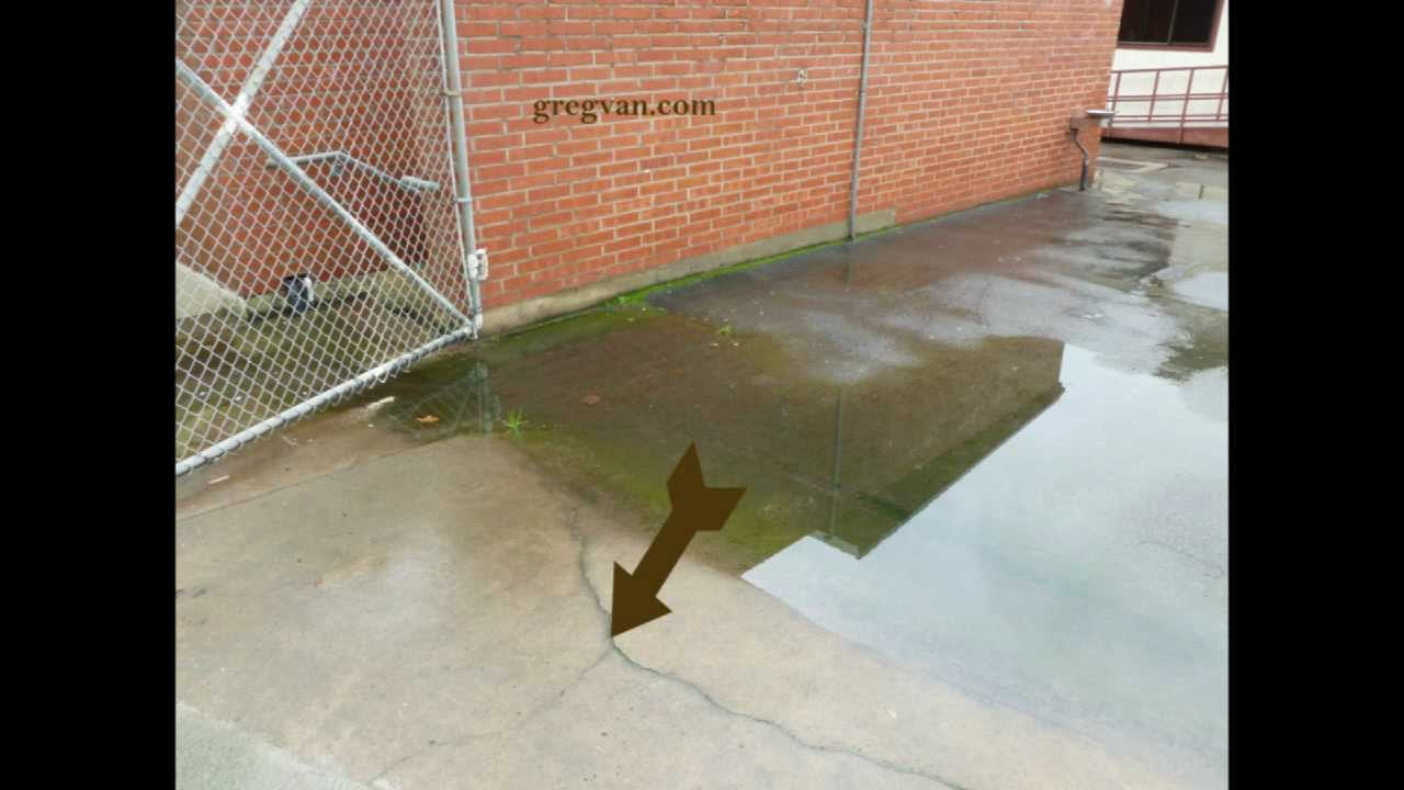 Concrete Can Crack When Water Accumulates On Walkway