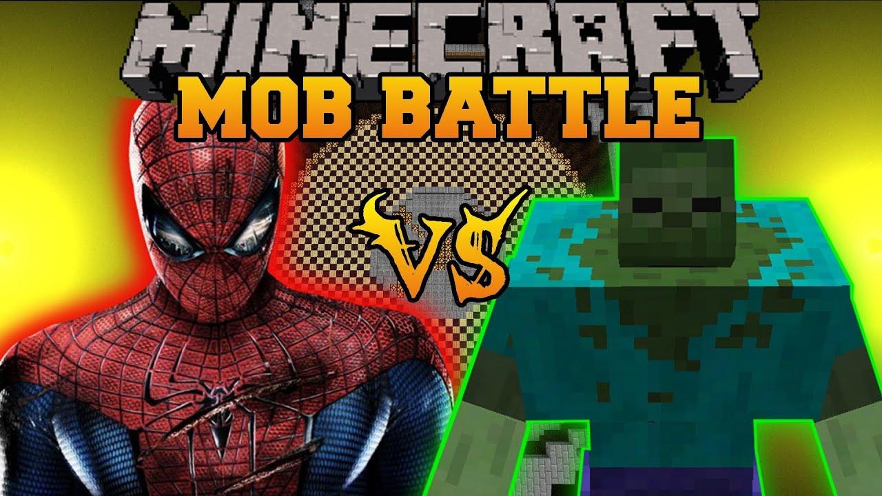 Mutant Zombie Vs Spiderman Minecraft Mod Battle Mob