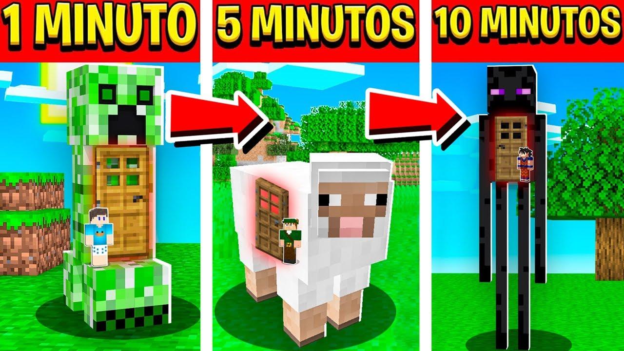 Minecraft só que a cada 5 MINUTOS entramos em ANIMAIS!!
