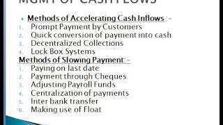 Cash mgmt part 1
