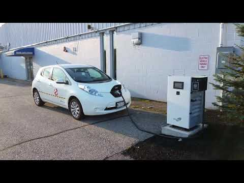 Fast Charging my LEAF at Lee NISSAN in Auburn Maine while enjoying the Great Falls Balloon Festival