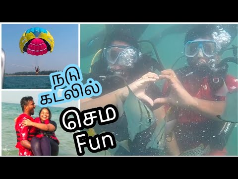 Our First Time Water Sports Experience- WATER SPORTS UNDER 2000 RS In Goa Scuba Diving, Para Sailing