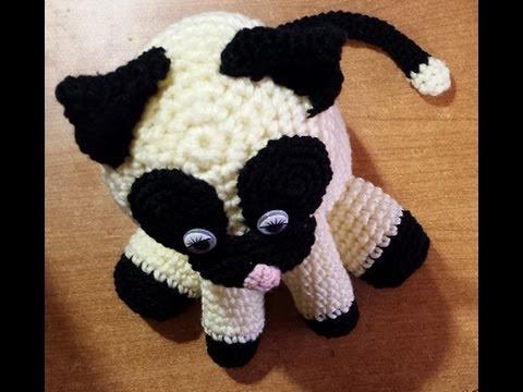 Gatto fermaporta alluncinetto -tutorial amigurumi crochet ...