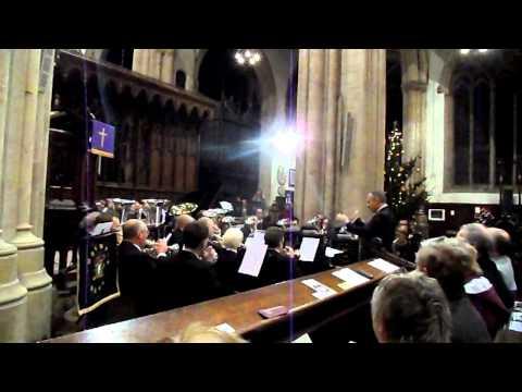 Foss Dyke Band (The Little Drummer Boy) In Newark Parish Church - Lincolnshire Co-op (1)