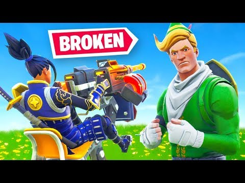 The NEW Mounted Turret Is *BROKEN* (Fortnite)